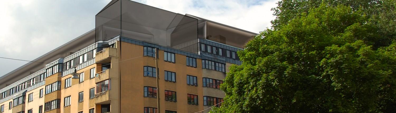 Bild på bostäder på taken